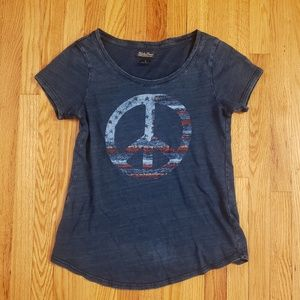 Lucky Brand Peace Sign Graphic Tee